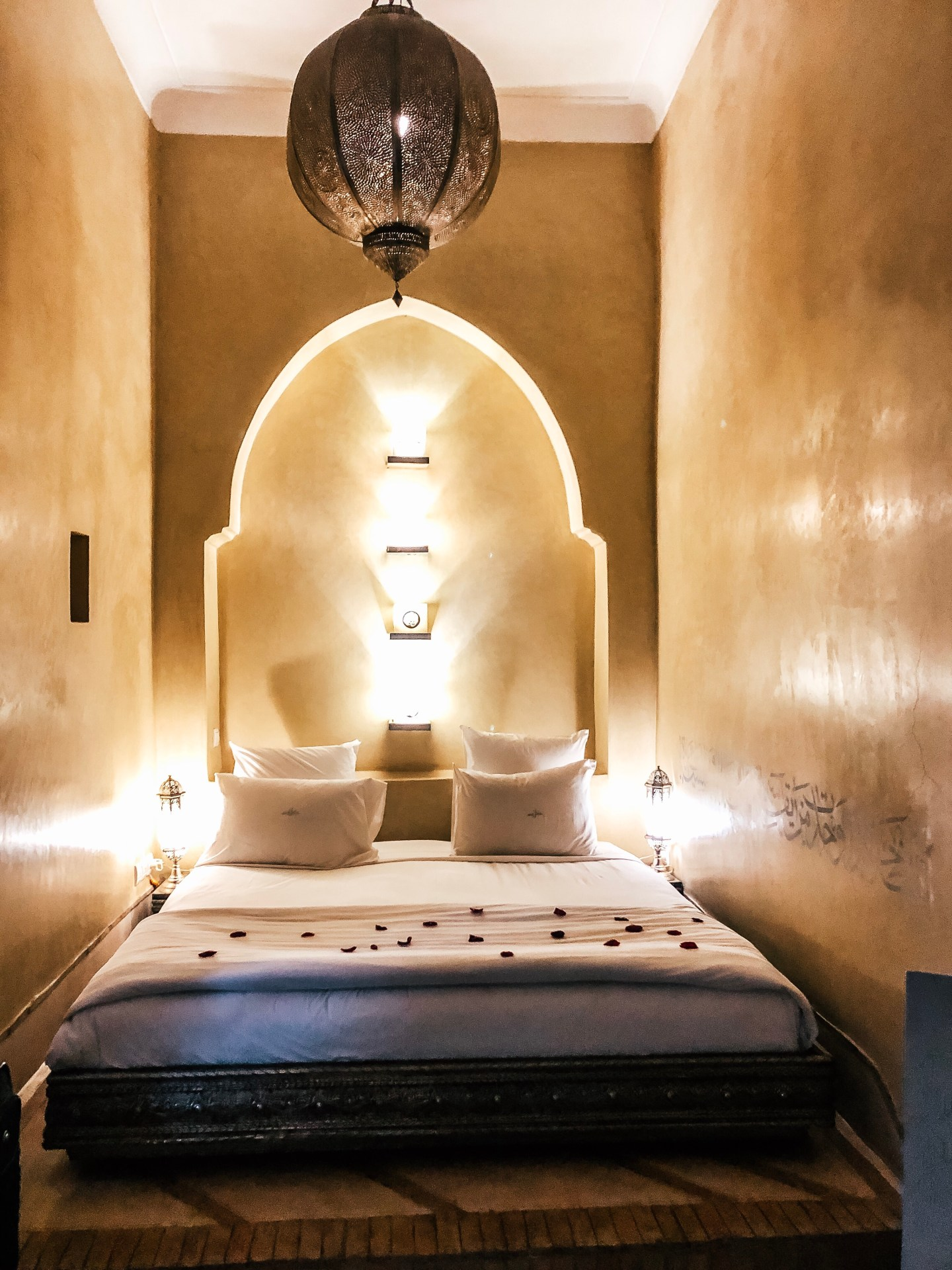 Guest room at Riad Anayela—Marrakech, Morocco