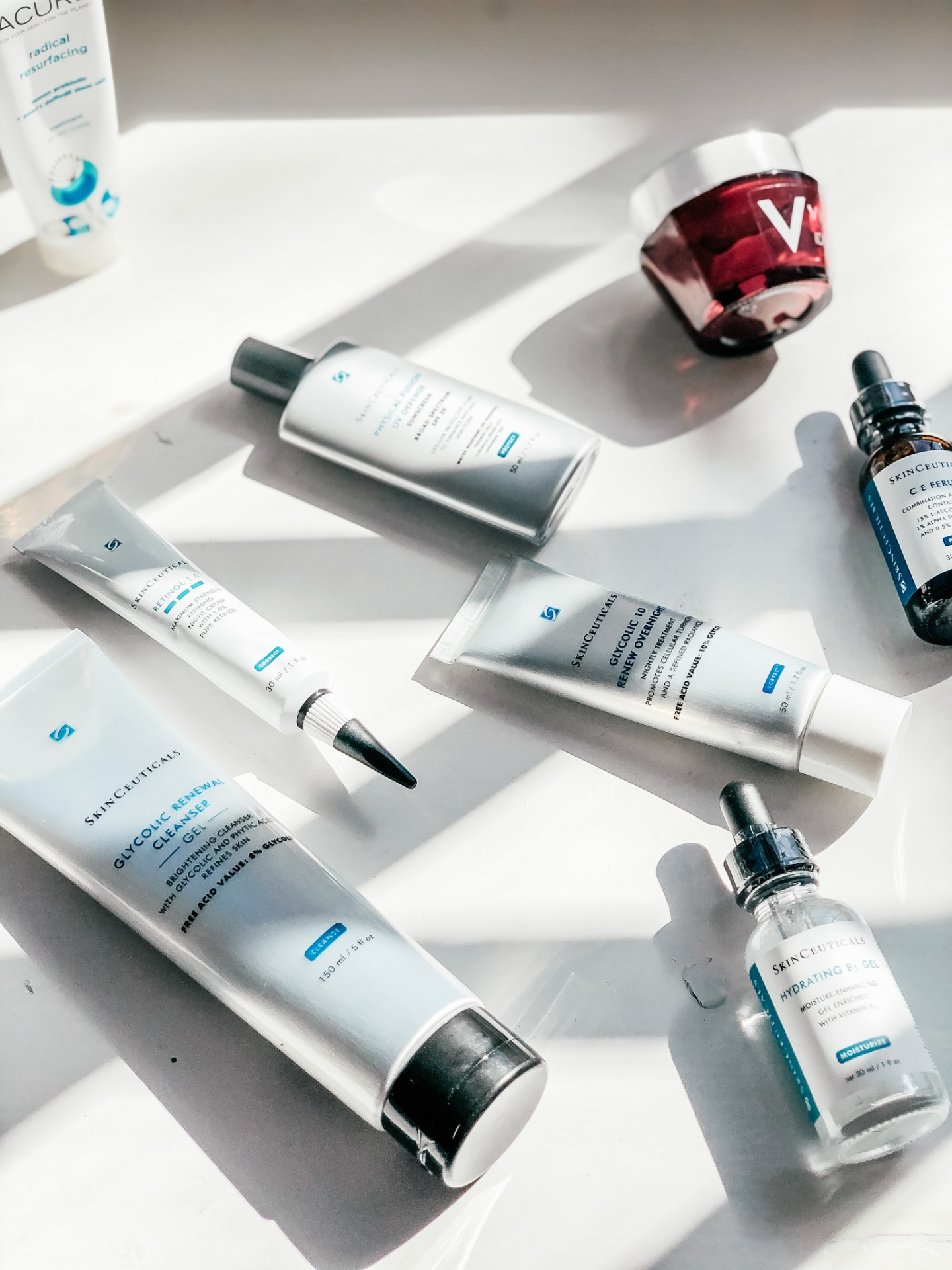 The 9 Best Skincare Products and Why They Work - Vichy Idealist Nighttime Lotion, Skinceuticals Glycolic Cleanser, Skinceuticals Glycolic 10 and other Skinceuticals Products