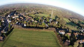 Harrow Lane from 200ft up