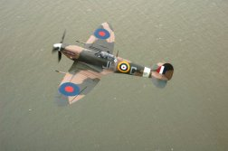 Spitfire BM597 flying over Dover