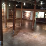 Lewis and Clark on the campus of the University of Arkansas  Interior Stained Concrete Floor Gallery 132
