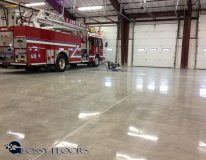 polished concrete Polished Concrete Gallery Centerton Fire Department 10