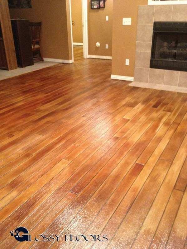 Concrete Wood Floors Glossy Floors