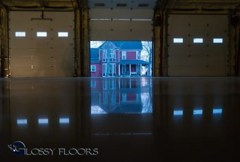 polished concrete Polished Concrete Gallery Polished Concrete Floors Gallatin Fire Department 13