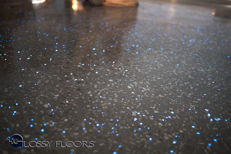 dark polished concrete floor. Polished Concrete Floors \u0026#8211; Glow In The Dark Exposed Aggregate Floor C