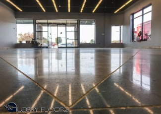 polished concrete Polished Concrete Gallery Polished Concrete Mattress Showroom 22