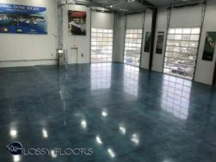 Stained Polished Concrete Floors
