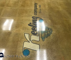 Stained Concrete Gallery Polished Concrete Showroom with Logo 19