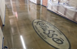 logo on polished concrete Logo on Polished Concrete Polished Concrete Floors 26