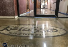 logo on polished concrete Logo on Polished Concrete Polished Concrete Floors 31