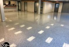epoxy flakes on a showroom floor Epoxy Flakes On A Showroom Floor Epoxy Flake Floors 101