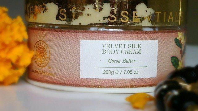 Forest Essentials Velvet Silk Body Cream Cocoa Butter Review (6)
