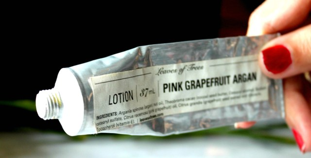 Leaves of Trees Pink Grapefruit Argan Lotion Review 3