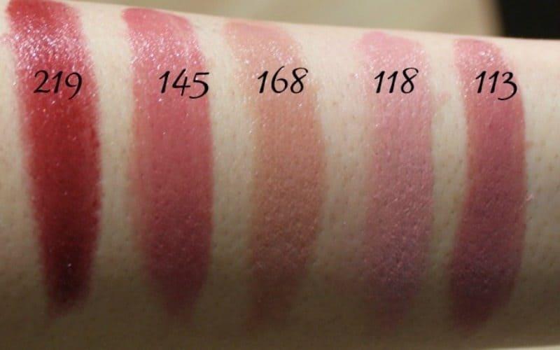 Inglot Lipstick swatches 13