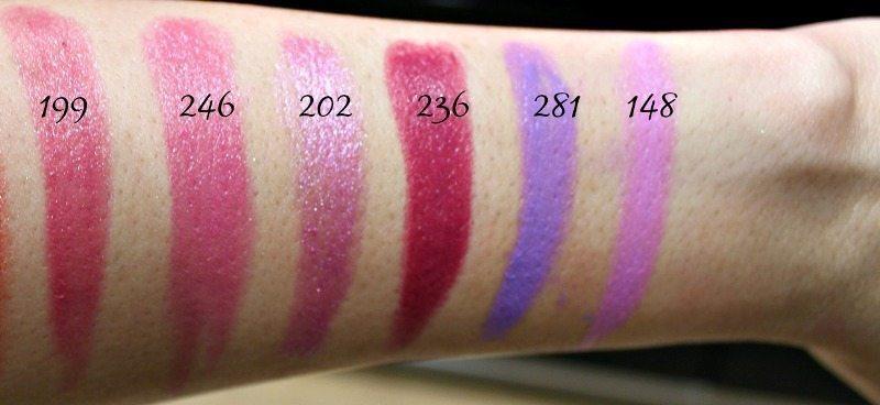 Inglot Lipstick swatches 15