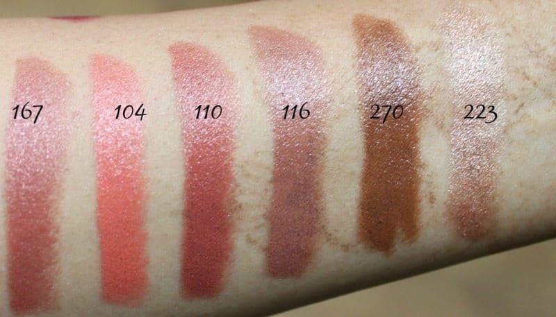 Inglot Lipstick swatches 20