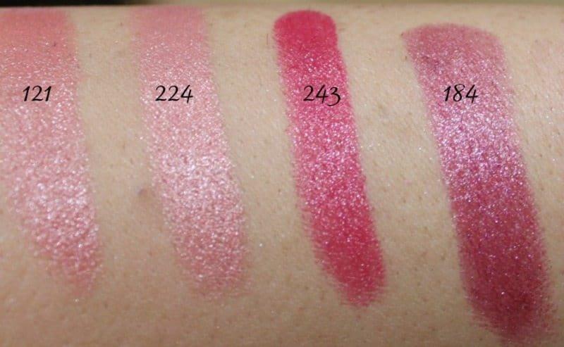 Inglot Lipstick swatches 21