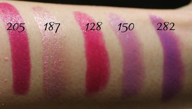 Inglot Lipstick swatches 22