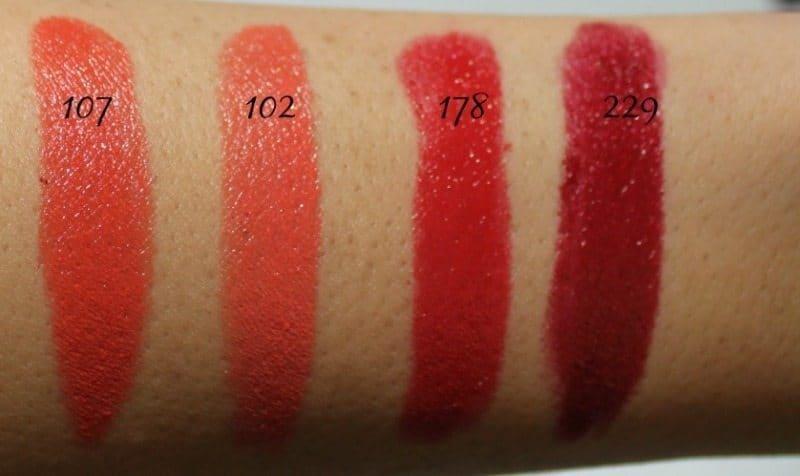 Inglot Lipstick swatches 5
