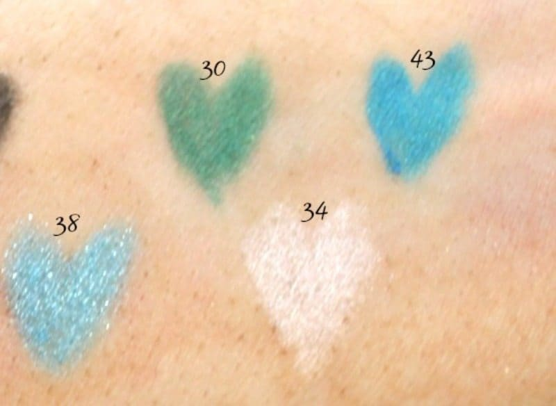 inglot soft peercision eyeliner pencils review and swatches (2)