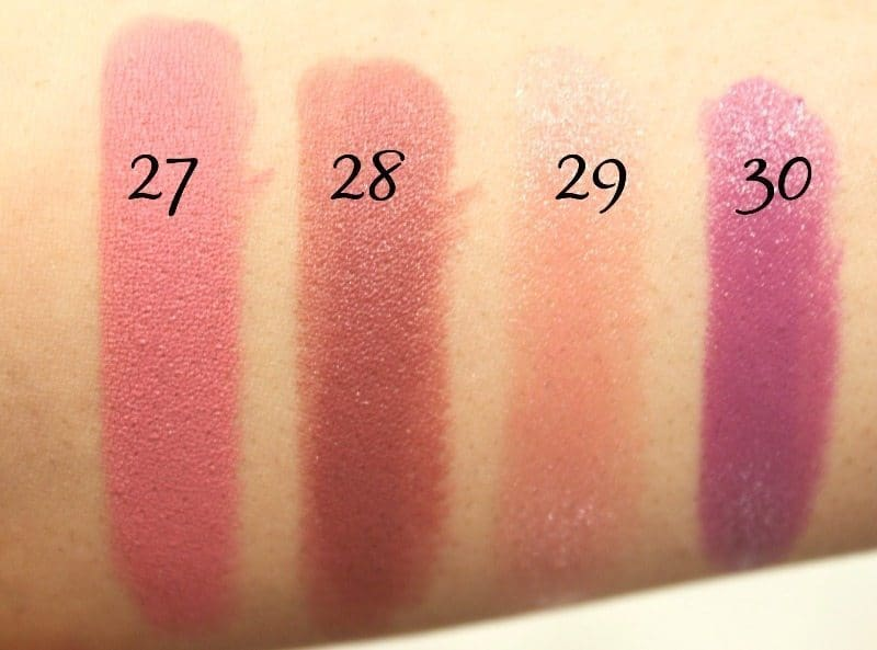 MAC Lipstick Swatches 10