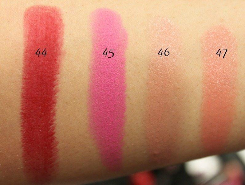 MAC Lipstick Swatches 14