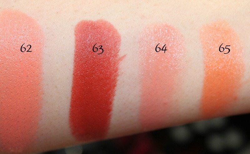 MAC Lipstick Swatches 17