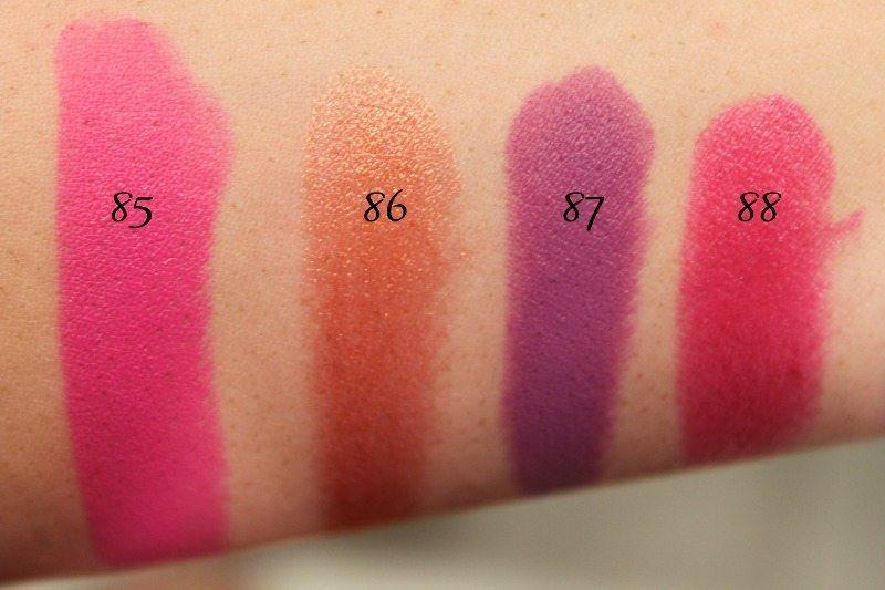 MAC Lipstick Swatches 23