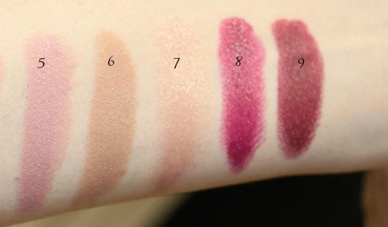 MAC Lipstick Swatches 3