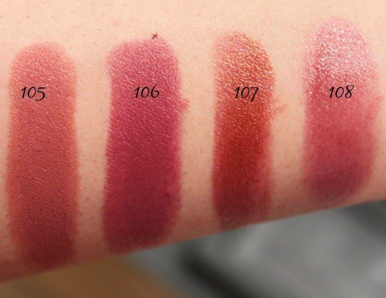 MAC Lipstick Swatches 29