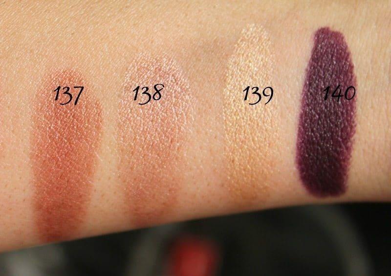 MAC Lipstick Swatches 36