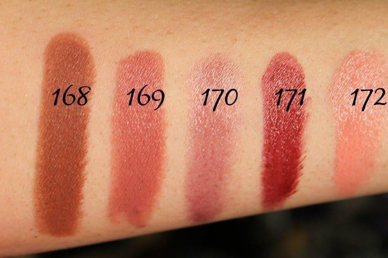 MAC Lipstick Swatches 45