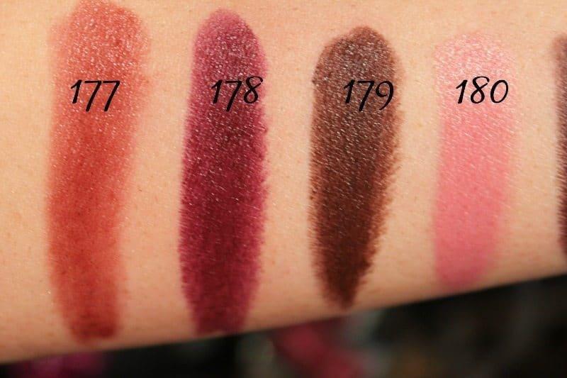 MAC Lipstick Swatches 48