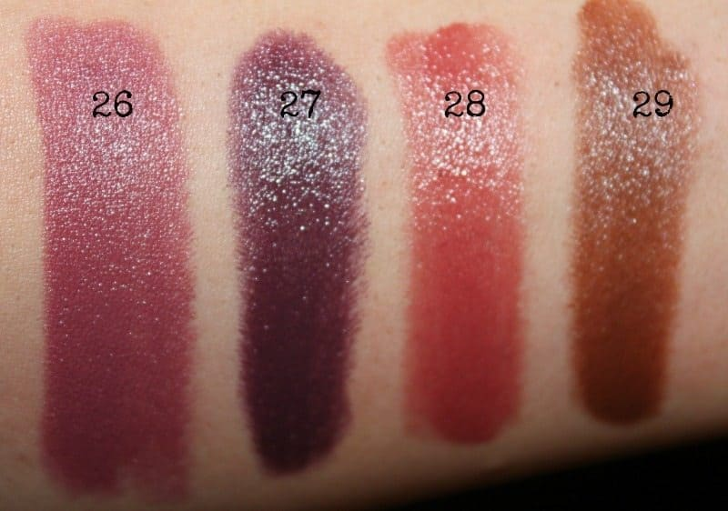 colorbar lipstick swatches 11