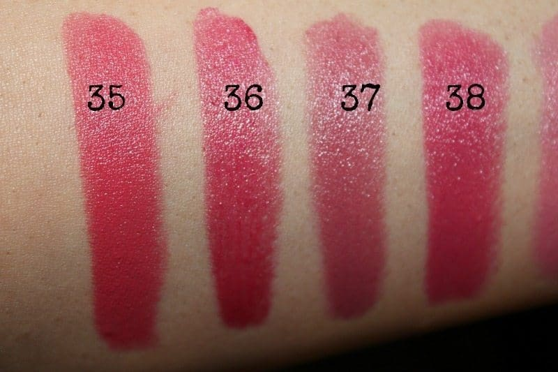 colorbar lipstick swatches 14