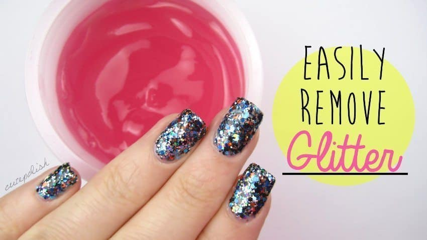 easily remove glitter nailpolish