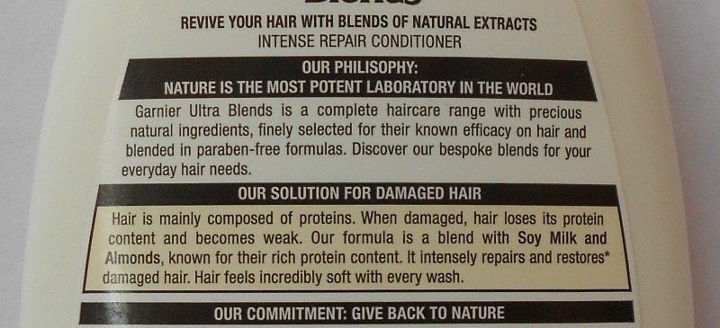 Garnier Ultra Blends Soy Milk and Almonds Intense Repair Shampoo and Conditioner Review 2