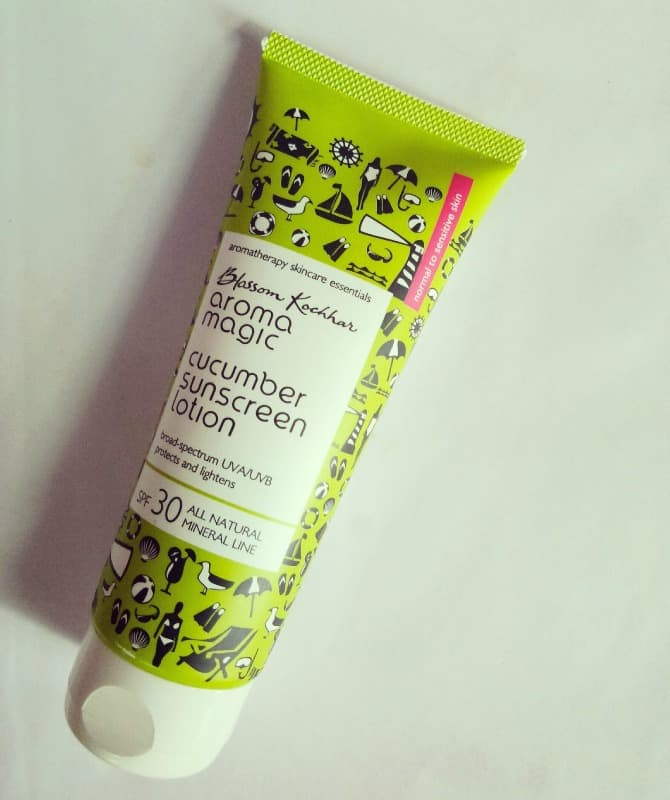 Aroma Magic Cucumber Sunscreen Lotion Review