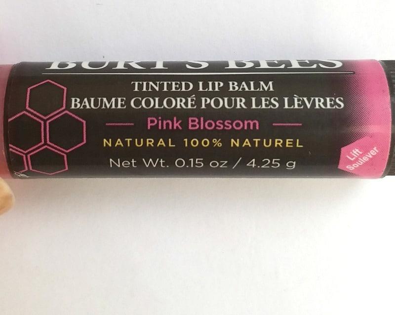 Burt's Bees Tinted Lip Balm Pink Blossom 2
