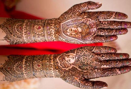 Dulha-Dulhan or Radha-Krishna Henna Design
