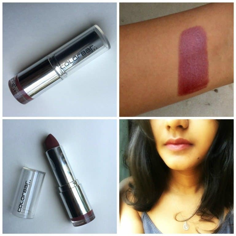 Colorbar Pure Innocence Velvet Matte Lipstick Review 3
