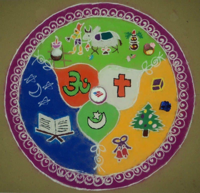 Prize Winning Rangoli Designs With Themes