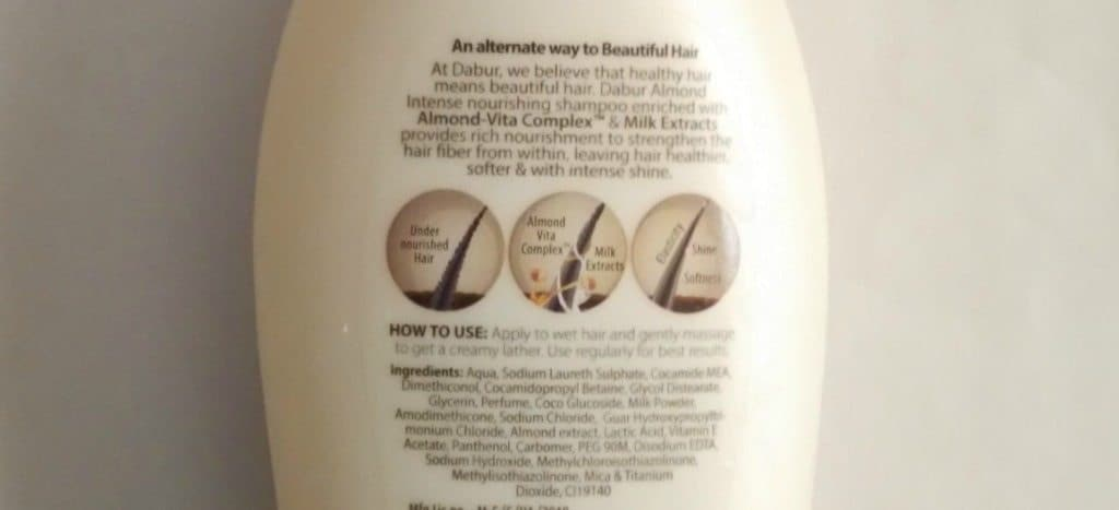 Dabur Almond Intense Nourishment Shampoo Review 2