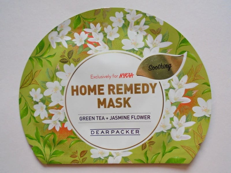 Dear Packer Green Tea + Jasmine Flower Home Remedy Mask