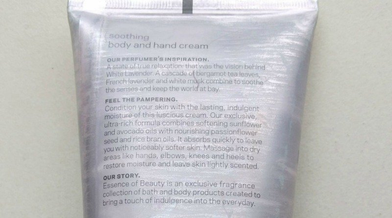 Essence Of Beauty White Lavender Soothing Hand And Body Cream 3