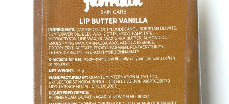 Fabindia Lip Butter Vanilla 2