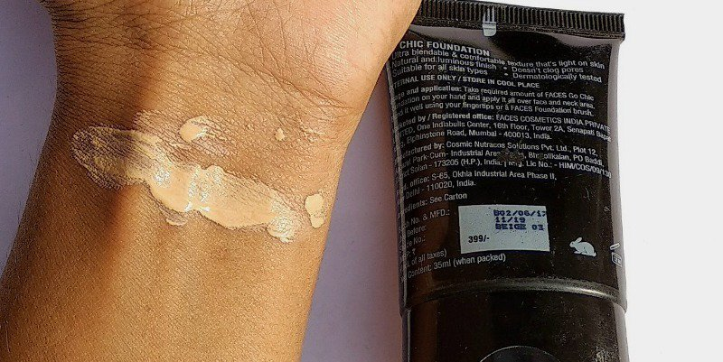 Faces Go Chic Foundation Review 3