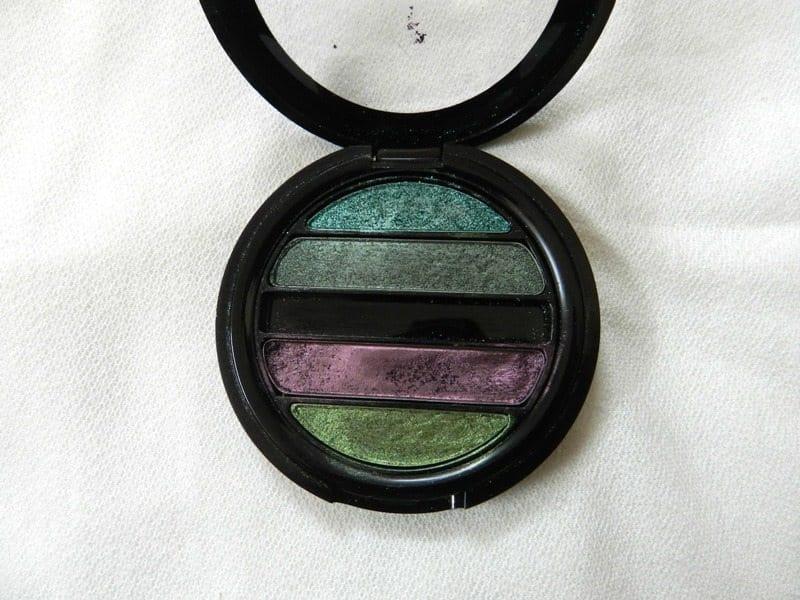 Faces I shine Green Quartet Eye Shadow Review