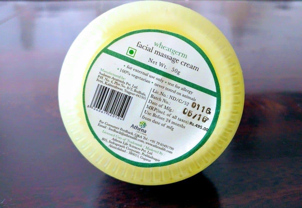 Iraya Wheatgerm and Orange Face Massage Cream Review 2