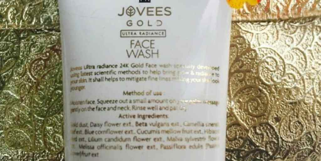 Jovees Gold Ultra Radiance Face Wash Review 1